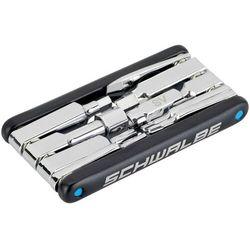 SCHWALBE Multitool 2.0 wraz z narzędziem do zaworu, czarny/srebrny 2020 Narzędzia wielofunkcyjne i mini narzędzia