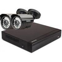 Zestawy monitoringowe, Zestaw startowy AHD, 2x Kamera HD/IR20, Rejestrator 4ch