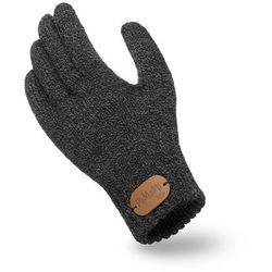 Rękawiczki dziewczęce PaMaMi - Ciemnoszara mulina - Ciemnoszara mulina