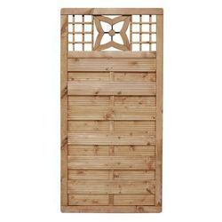 Płot szczelny z dekorem 90x180 cm drewniany MALVA WERTH-HOLZ