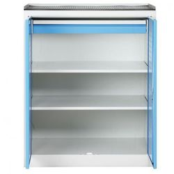 Szafa warsztatowa niska z perforowaną ścianką tylną, 2 półki, 1 szuflada