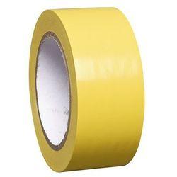 Taśma do znakowania podłoża z winylu, jednokolorowa, szer. 50 mm, żółta, opak. 1
