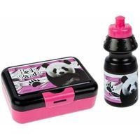 Śniadaniówki i bidony, Bidon 350ml + pudełko śniadaniowe Panda