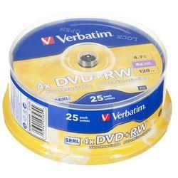 Verbatim DVD+RW [ cake box 25 | 4.7GB | 4x ] 43489 - odbiór w 2000 punktach - Salony, Paczkomaty, Stacje Orlen