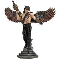 Rzeźby i figurki, WRONA - ZAMASKOWANY SKRZYDLATY WOJOWNIK STEAMPUNK KOLOR VERONESE (WU76816AA)