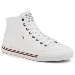 Sneakersy TOMMY HILFIGER - Core Corporate High Textile Snk FM0FM02825 White YBS