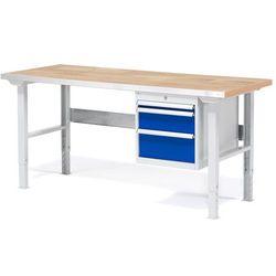 Stół roboczy SOLID, z 3 szufladami, 500 kg, 1500x800 mm, dąb