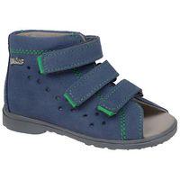 Obuwie profilaktyczne dziecięce, Sandałki Profilaktyczne Ortopedyczne Buty DAWID 1041 Niebieski GJ - Niebieski   Szary   Multikolor