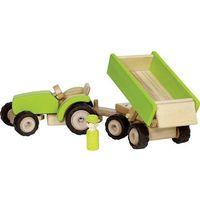 Traktory dla dzieci, Goki Zielony traktor z przyczepą
