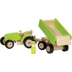 Goki Zielony traktor z przyczepą