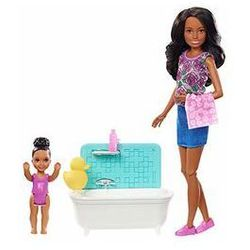 Barbie Zestaw Opiekunka Skipper + 2 lalki Mattel (skipper ciemna + wanna)
