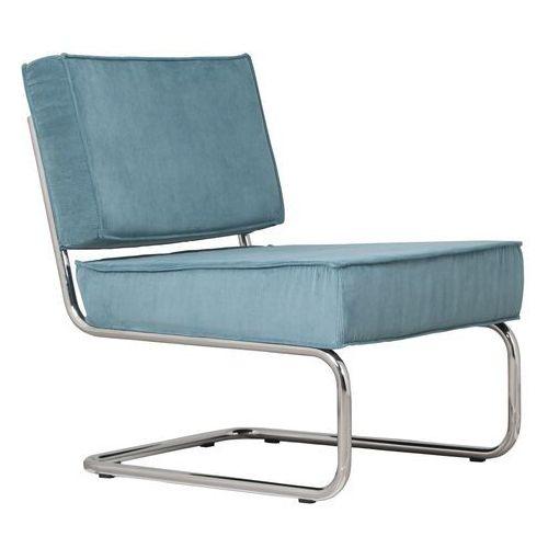 Krzesła, Zuiver Krzesło Lounge RIDGE RIB niebieskie 3100011