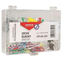 Zestaw biurowy (pinezki, klipy i spinacze) OFFICE PRODUCTS, mix 153szt.