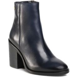 Botki TOMMY HILFIGER - Shaded Leather High Heel Boot FW0FW05164 Desert Sky DW5