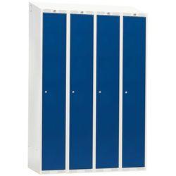 Szafa ubraniowa CLASSIC, 4 moduły, 1900x1200x550 mm, niebieski