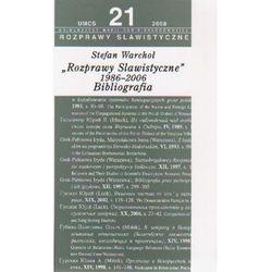 Rozprawy slawistyczne nr 21 1986-06 Bibliografia (opr. miękka)