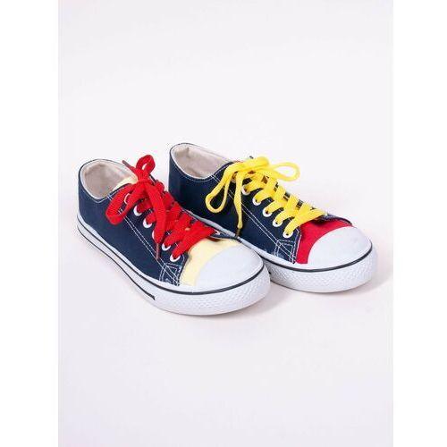 Damskie obuwie sportowe, Trampki klasyczne tenisówki z kolorowymi sznurówkami 40