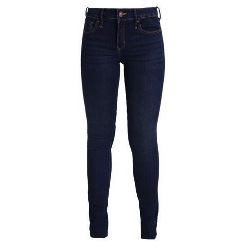 Spodnie damskie, Hollister Co. Jeansy Slim Fit dark super skinny