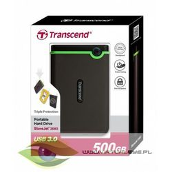 StoreJet 25 M3 500GB 2.5'' USB3.0 Black - Rubber Case, Anti-Shock