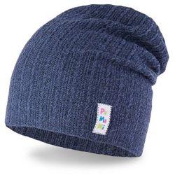 Wiosenna czapka dziewczęca PaMaMi- Ciemnoniebieski - Ciemnoniebieski
