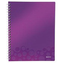 """Notatnik z przekładkami """"Get Organised"""" LEITZ WOW A4 w kratkę fioletowy"""
