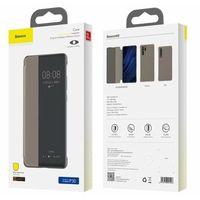 Etui i futerały do telefonów, Baseus Smart View Flip Cover pokrowiec etui z klapką typu Smart Huawei P30 khaki (LTHWP30-YP11) -30% (-30%)