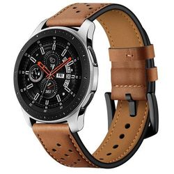 Pasek TECH-PROTECT Leather do Samsung Galaxy Watch 46 mm Brązowy