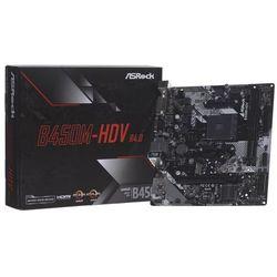 Płyta główna Asrock B450M-HDV R4.0 DDR4 DIMM AM4 Micro ATX RAID SATA- natychmiastowa wysyłka, ponad 4000 punktów odbioru!