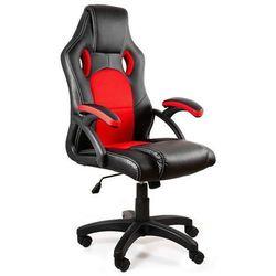 Fotel gamingowy Dynamiq V7 czarny-czerwony