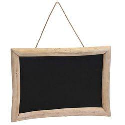 Tablica na notatki, czarna, 70x50 cm - drewno tekowe