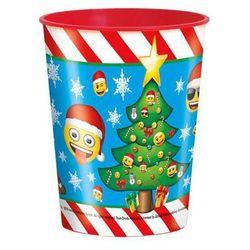 Kubeczek plastikowy świąteczny w Emotki - 470ml - 1 szt.
