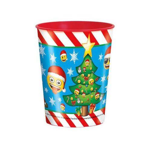 Ozdoby świąteczne, Kubeczek plastikowy świąteczny w Emotki - 470ml - 1 szt.