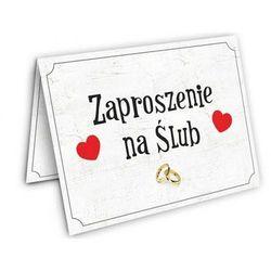 Zaproszenie ślubne z kopertą - 1 szt.