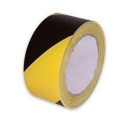 Taśma ostrzegawcza żółto czarna - szerokość 80 mm, długość 100 m