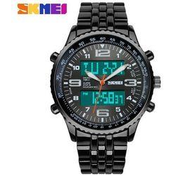 Zegarek męski bransoleta SKMEI 1032 black - BLACK