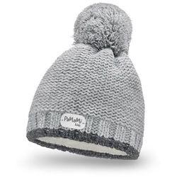 Zimowa czapka dziewczęca PaMaMi - Jasnoszary - Jasnoszary