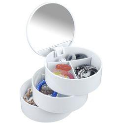 Pojemnik z lusterkiem na drobiazgi, biżuterię - 3 poziomy, WENKO