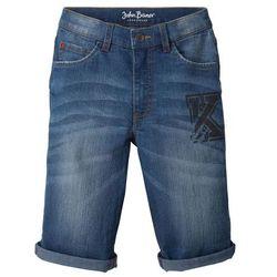 """Bermudy dżinsowe z wywiniętymi nogawkami bonprix niebieski """"stone"""""""