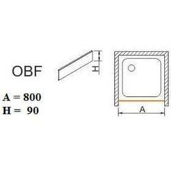 SANPLAST obudowa do brodzików do zabudowy wnękowej OBF 80x9 625-400-0300-01-000