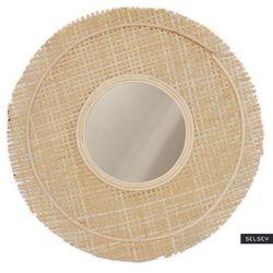 SELSEY Lustro ozdobne na ścianę Taiyang wiklinowe średnica 49,5 cm