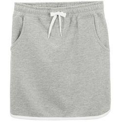 Spódnica dresowa dziewczęca bonprix jasnoszary melanż