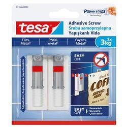 Śruby samoprzylepne Tesa regulowane do tapet udźwig 3 kg 2 szt.