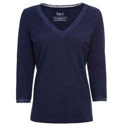 Shirt do spania z rękawami 3/4 bonprix ciemnoniebieski
