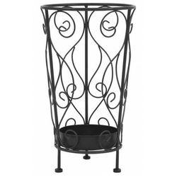 Czarny metalowy stojak na parasole w stylu vintage - Selvis