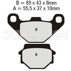 Klocki hamulcowe EBC (2 szt.) FA067R 4100747 KTM SX 620, Kawasaki KLR 650, KX 250