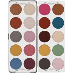 Kryolan EYE SHADOW PALETTE 20 COLORS (CG) Paleta 20 kolorów cieni do powiek - CG (5338)