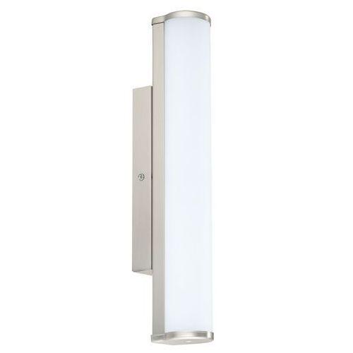 Lampy ścienne, Kinkiet lampa oprawa ścienna Eglo Calnova 1x8W LED 35cm nikiel mat IP44 94715