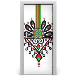 Naklejka samoprzylepna na drzwi Polski wzór ludowy