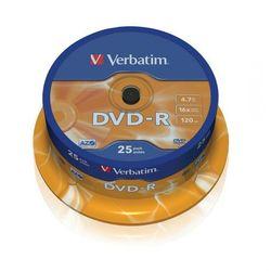 DVD-R verbatim 4.7GB 16x cake 25 szt