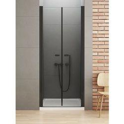 New Trendy New Soleo Black drzwi wnękowe 150 cm wys. 195 cm, szkło czyste 6 mm D-0249A